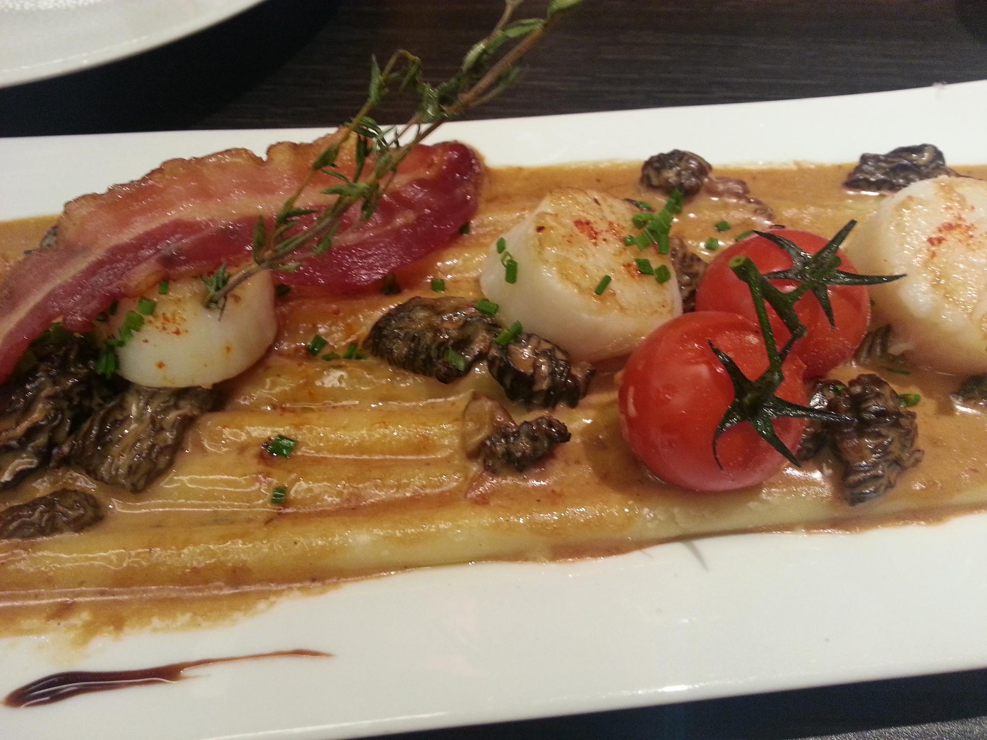 Cuisine italienne produits frais saint jacques
